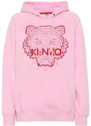 Kenzo Tiger Logo stretch-cotton hoodie