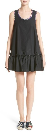 Marc Jacobs Women's Marc Jacobs Stretch Cotton Ruffle Hem Dress