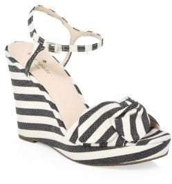 Kate Spade Janae Striped Wedges