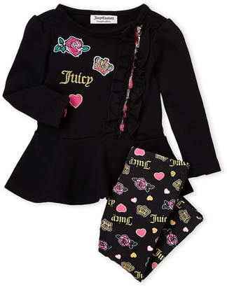 Juicy Couture Infant Girls) Two-Piece Peplum Top & Legging Set