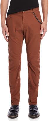 Imperial Star Brown Slim Fit Chain Pants