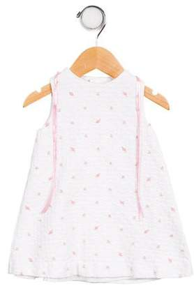 Luli & Me Girls' Embroidered Matelassé Dress