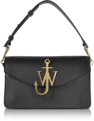 J.W.Anderson Black Leather Logo Purse