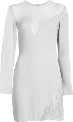 Cushnie et Ochs Fragmented Embroidery Mini Dress