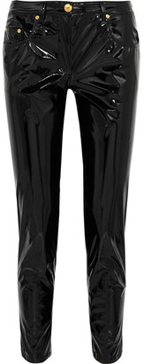 Boutique Moschino - Vinyl Skinny Pants - Black $625 thestylecure.com