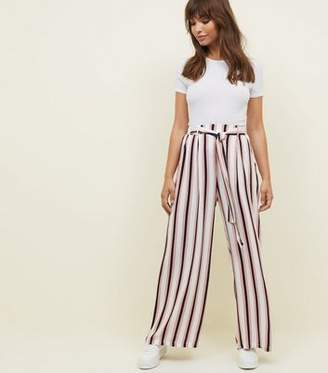 Apricot Pale Pink Stripe Trousers