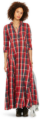 Ralph Lauren Denim & Supply Plaid Button-Front Maxidress $165 thestylecure.com