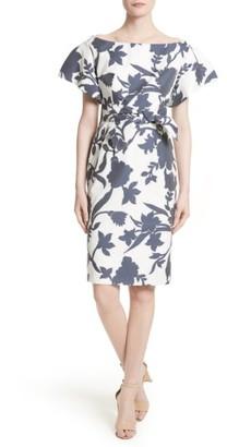 Women's Milly Dakota Floral Jacquard Sheath Dress $495 thestylecure.com