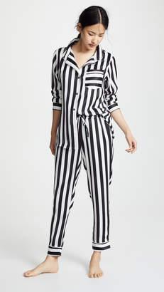 Plush Silky Striped PJ Set
