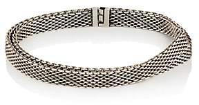 Title of Work Men's Double-Wrap Bracelet - Silver