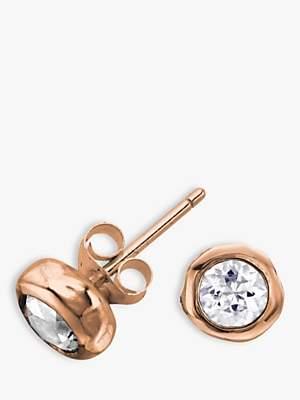 Dower & Hall 18ct Vermeil Topaz Stud Earrings