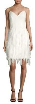 Aidan Mattox Feather Texture Sheath Dress