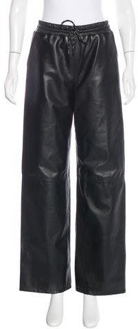 Alexander Wang T by Alexander Wang Wide-Leg Leather Pants