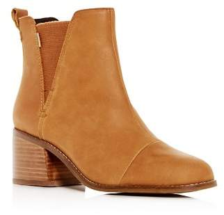 Toms Women's Esme Leather Block-Heel Booties