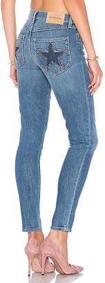 MAJORELLE Bowie Jeans in Dark Wash $198 thestylecure.com