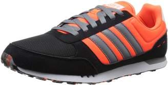 adidas NEO Men's City Racer Lifestyle Runner Sneaker, Core Black/Grey/Solar Orange