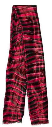 Louis Vuitton Cashmere & Silk-Blend Metallic Zebra Shawl