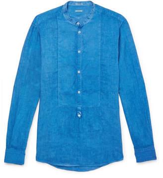 Massimo Alba Kos Grandad-Collar Linen Shirt