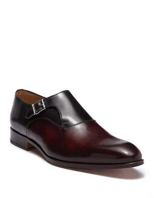 Magnanni Cleve Leather Monk Strap Loafer