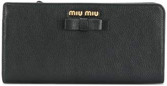 Miu Miu bow continental wallet