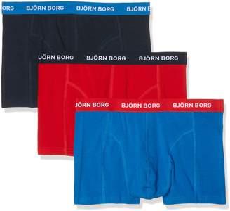 Bjorn Borg Men's 3-Pack Contrast Solids Boxer Brief