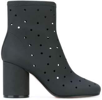 Maison Margiela hole punch mid-heel ankle boots
