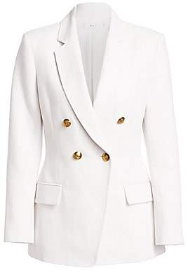 A.L.C. Women's Sedgwick Linen Cotton Double Breasted Blazer