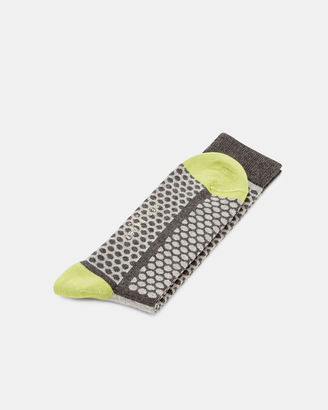 Striped dotted patterned socks $15 thestylecure.com
