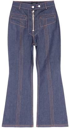 Ellery 'Hemisphere' topstitch cropped flared jeans