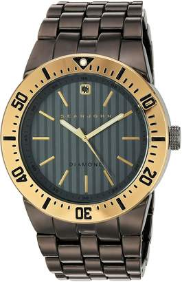 Sean John Men's 10030889 Genuine Diamond Analog Display Japanese Quartz Watch