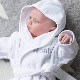 Duncan Stewart New Born Baby Dressing Gown And Slipper Set
