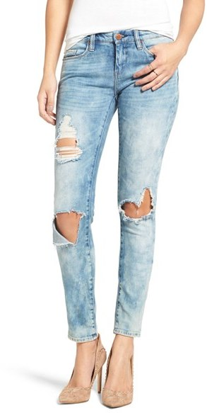 Blank NYC Women's Blanknyc Good Vibes Distressed Skinny Jeans