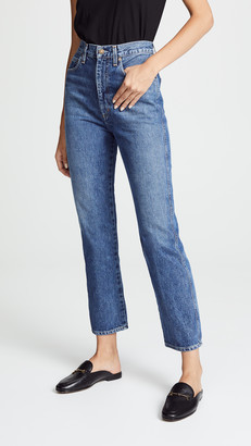 A Gold E Agolde Pinch Waist High Rise Kick Jeans