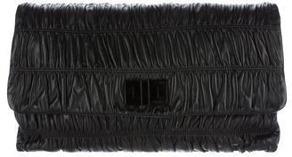 pradaPrada Nappa Gaufre Oversized Clutch