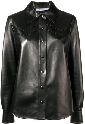 Givenchy lambskin shirt jacket