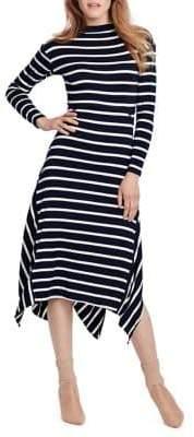 Ella Moss Long-Sleeve Striped Dress