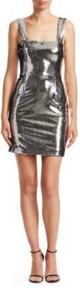 Galvan Chrome Mini Sheath Dress