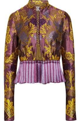 Etro Tassel-Trimmed Floral-Jacquard Jacket