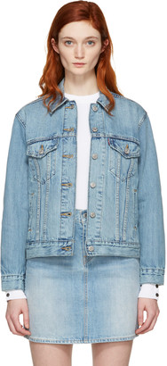 Levi's Blue Denim Ex-Boyfriend Trucker Jacket $100 thestylecure.com