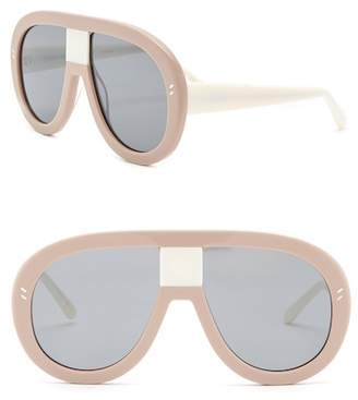 Stella McCartney 60mm Shield Aviator Sunglasses