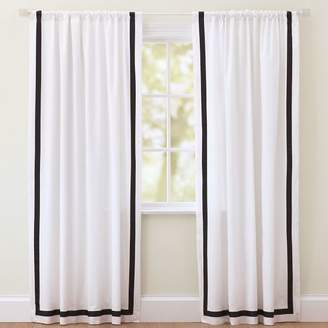 Pottery Barn Teen Suite Ribbon Drape With Blackout, 108&quot, Black