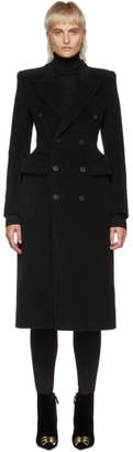 Balenciaga Black Hourglass Double-Breasted Coat