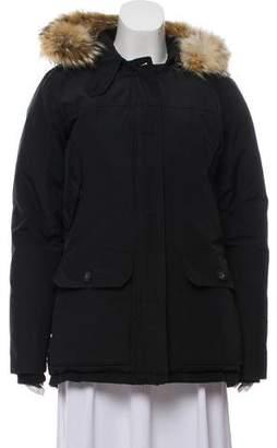 Woolrich Fur-Trimmed Down Coat