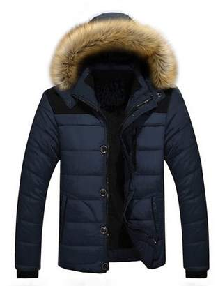 Hemiks Fashion Men's Winter Warm Jacket New Parka Coat With Removable Hoodie