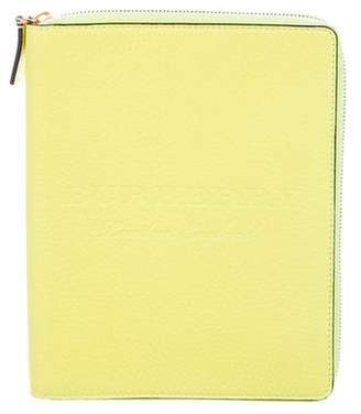Burberry Embossed Leather Agenda Cover