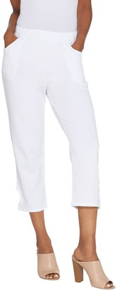 Factory Quacker Pearl and Shine Knit Crop Pants with Keyhole Detail