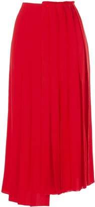 Sonia Rykiel asymmetric pleated skirt