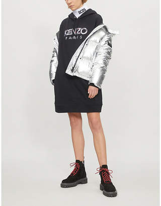 Kenzo Logo-embroidered oversized cotton-jersey hoody