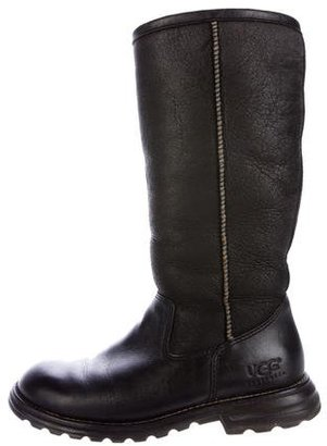 UGG Australia Leather Knee-High Boots $125 thestylecure.com