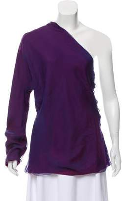 The Row Silk One-Shoulder Top w/ Tags